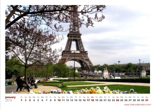 calendrier photo mensuel