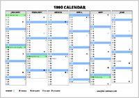 1990 Calendar.1990 Calendar Free Calendars Com