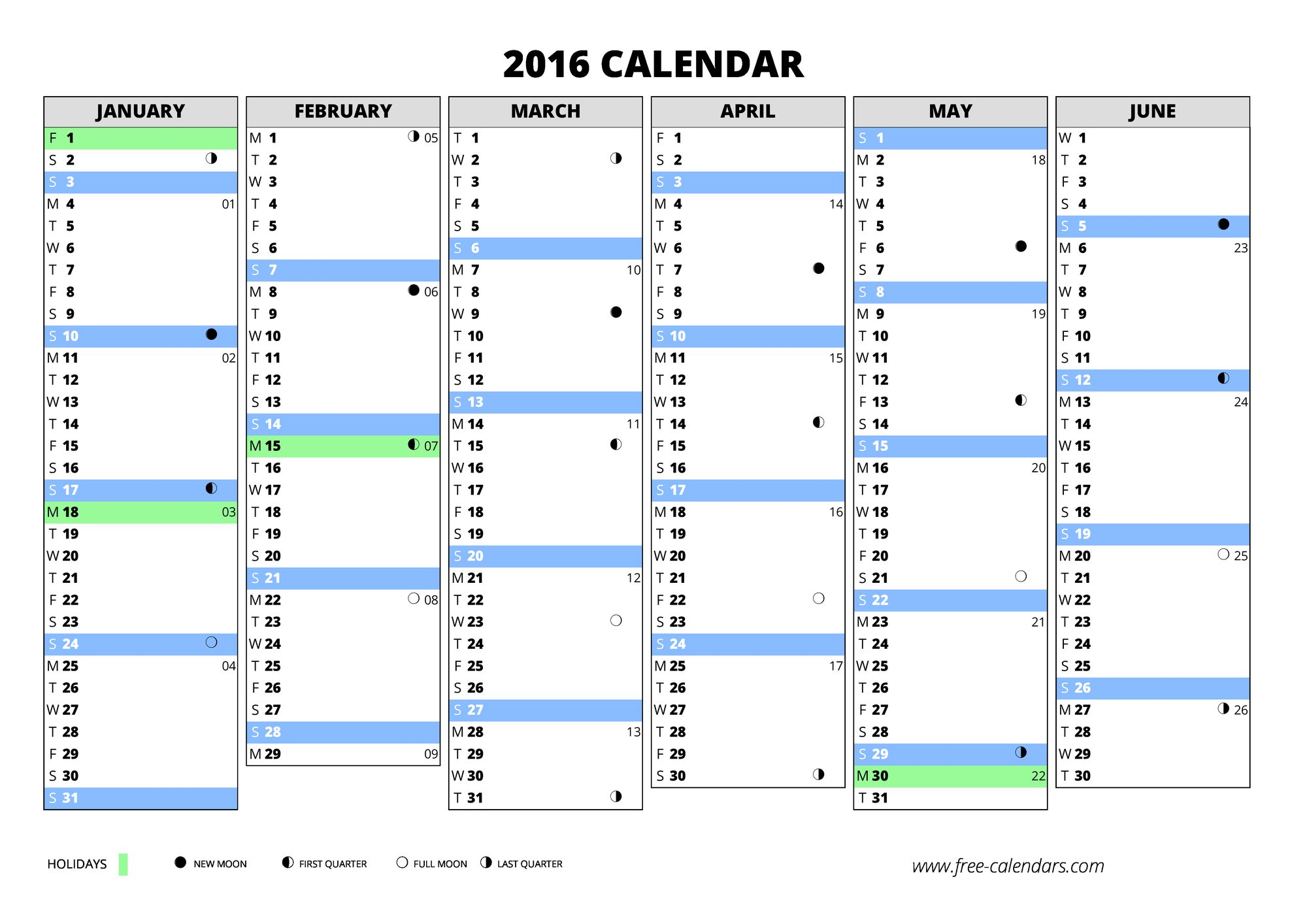 how to create a yearly calendar in excel 2016