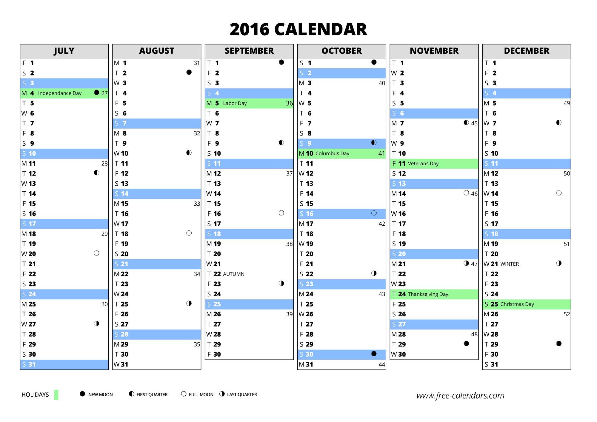 2016 blank calendar landscape 2016 pdf blank calendar 2016 blank excel ...