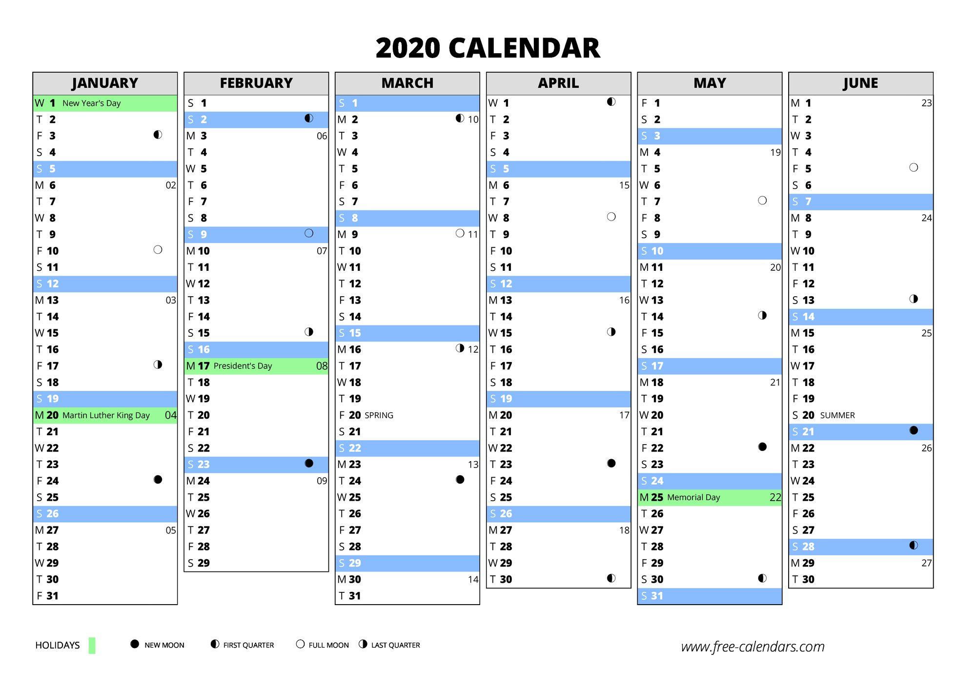 2020 calendar free. Black Bedroom Furniture Sets. Home Design Ideas