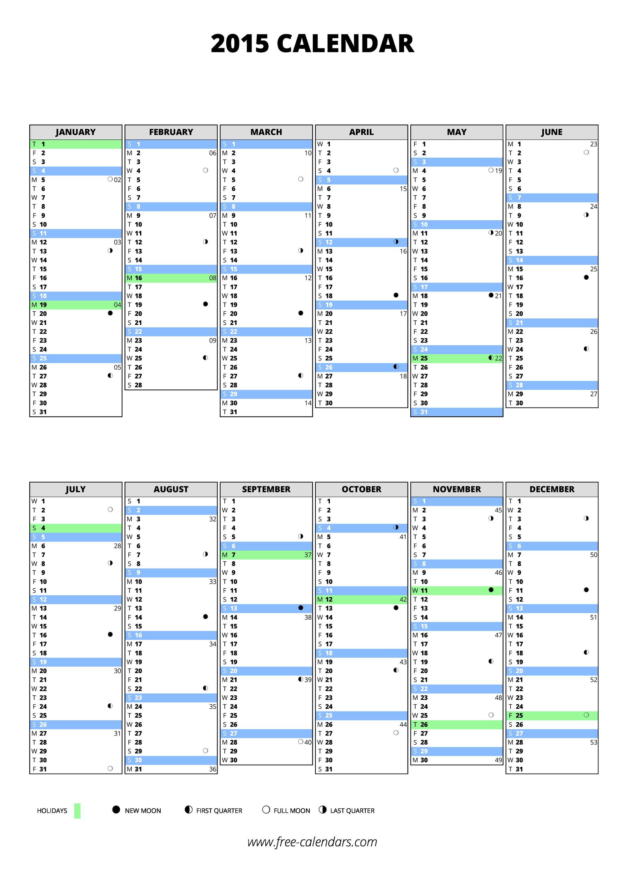 2015 blank pdf calendar 2015 blank calendar