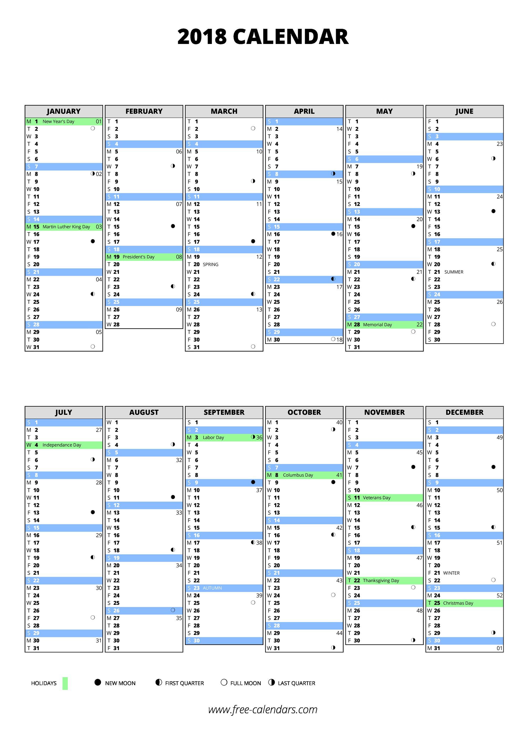 Quarter calendar 2018 fieldstation quarter calendar 2018 alramifo Images